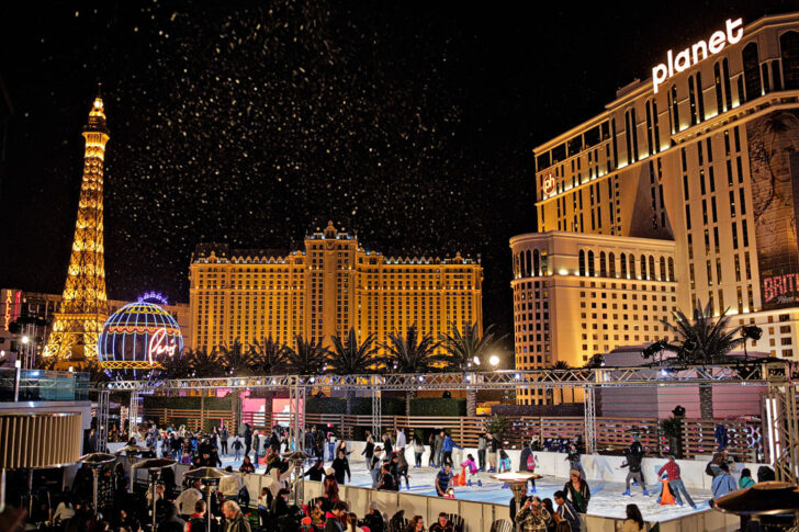 Christmas in Las Vegas Ice Skating at the Cosmopolitan