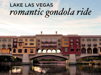A Romantic Lake Las Vegas Gondola Ride.