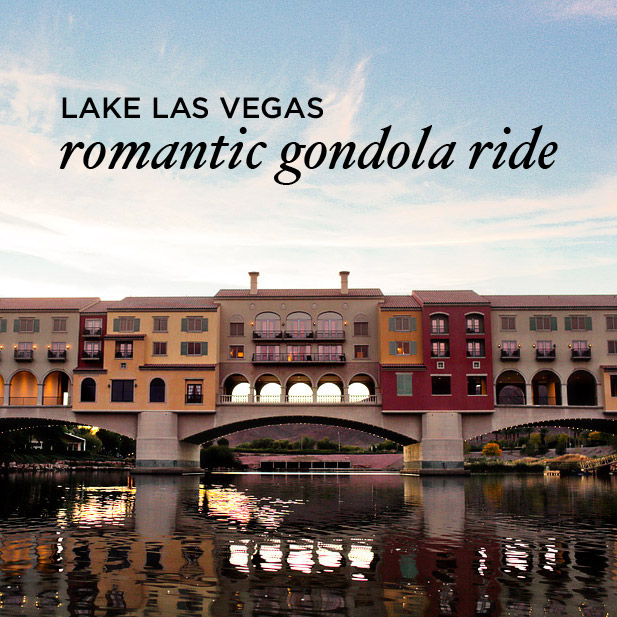 Lake Las Vegas Gondola Ride – Most Romantic Activity in Vegas