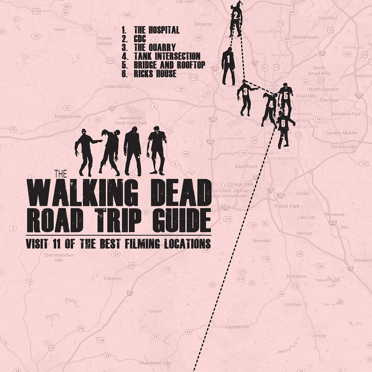 11 Best Walking Dead Locations (Self Guided Walking Dead Tour)