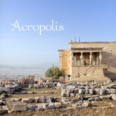 The Acropolis of Athens Greece.