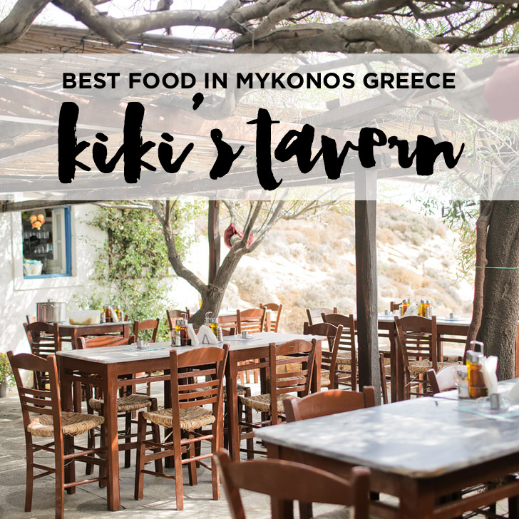 Kikis Tavern at Agios Sostis Beach – Best Food in Mykonos