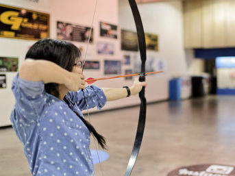 Traditional Archery Lessons at Impact Archery Las Vegas.