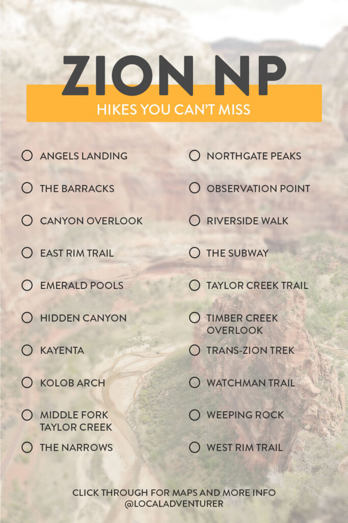 15 Best Hikes in Zion