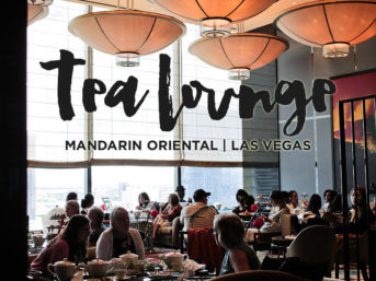 Afternoon Tea at the Mandarin Oriental Las Vegas.