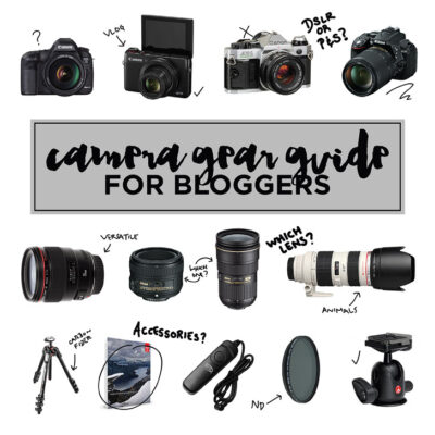 Ultimate Camera Gear Guide for Bloggers.
