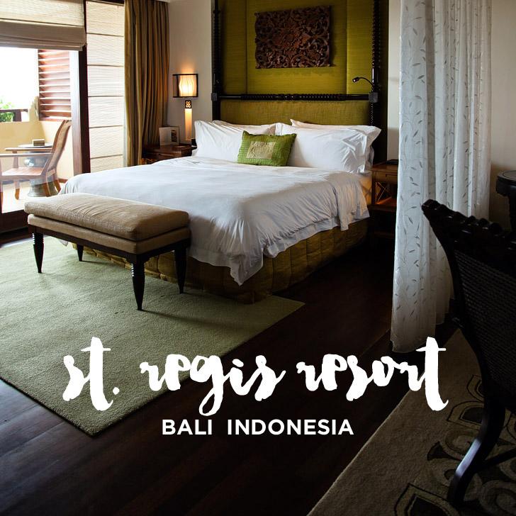 Staying at the 5 Star St Regis Bali Resort