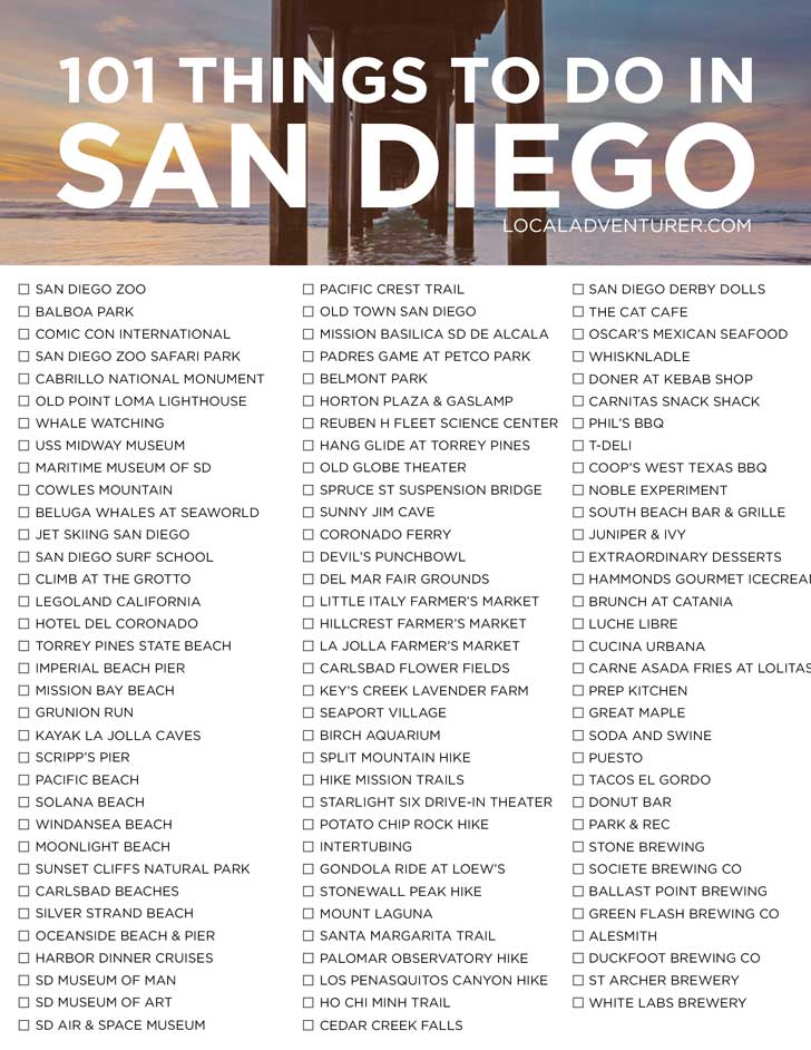 101 Things to Do in San Diego California - the Ultimate San Diego Bucket List - from the popular spots everyone has to do at least once to the spots a little more off the beaten path. // localadventurer.com