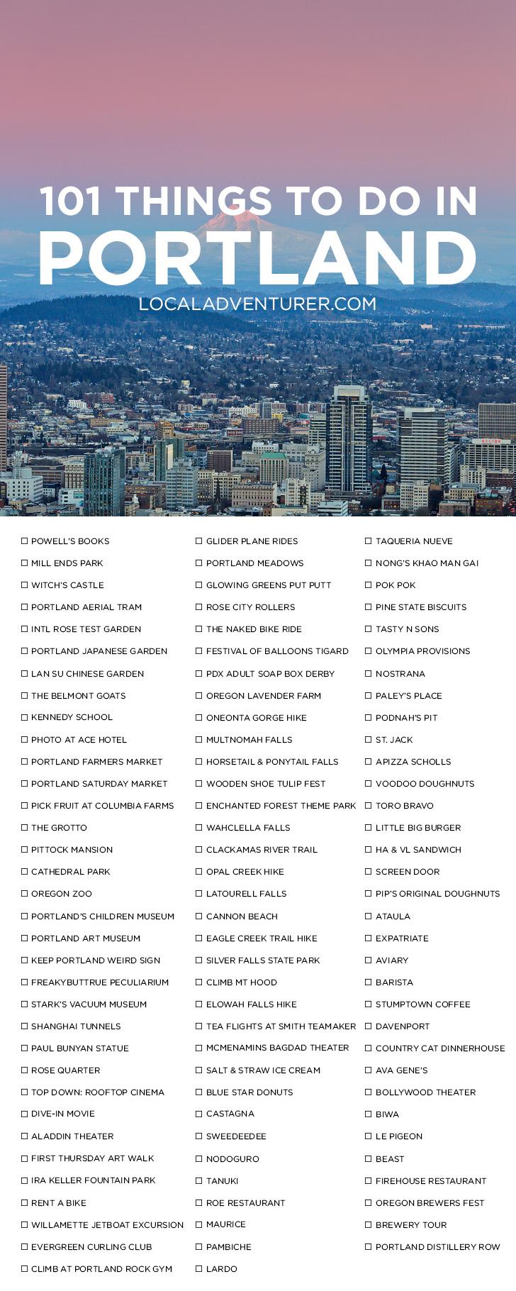 Ultimate Portland Bucket List (101 Things to Do in Portland Oregon)