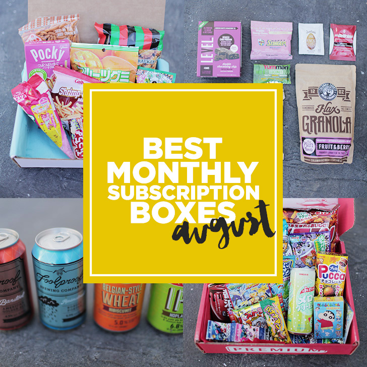 Fave Monthly Subscription Boxes August 2015
