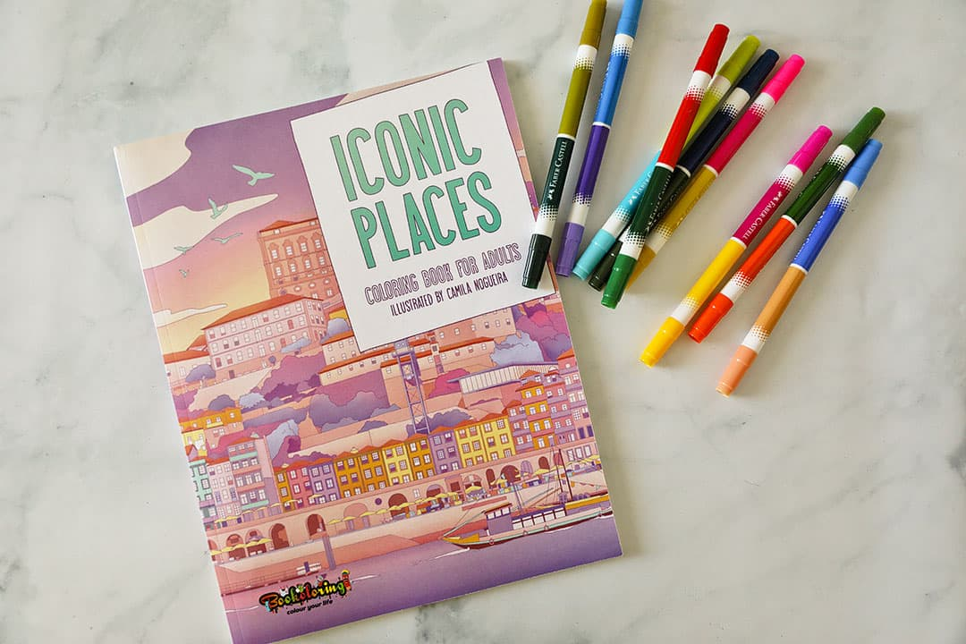 Iconic Places + 11 Best Travel Coloring Books
