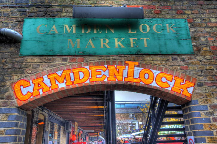 Camden Lock Market London - Famous World Marketplace in London.
