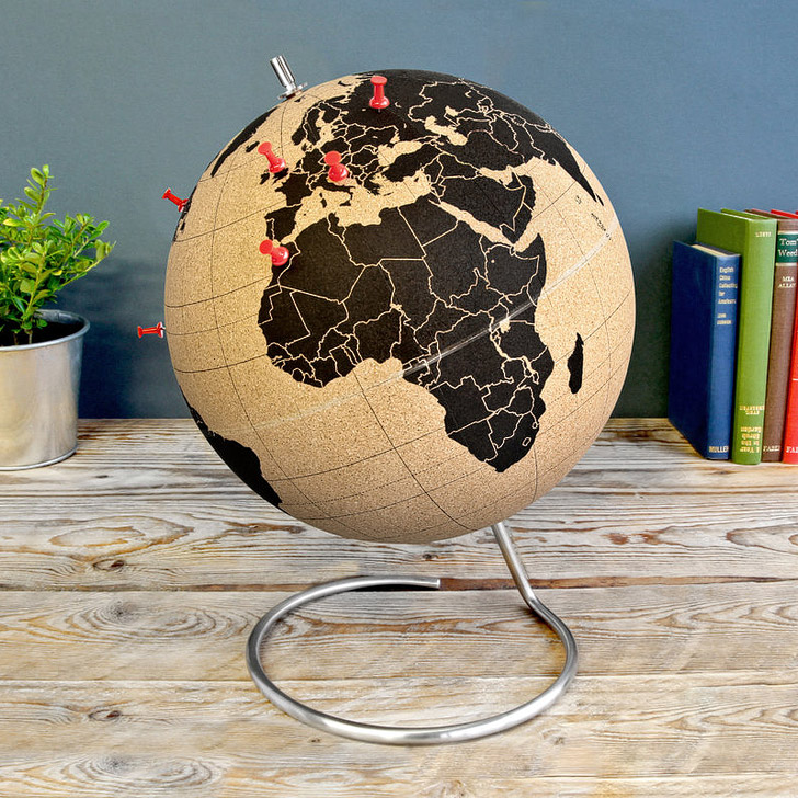 Cork Globe (15 Fun Ways to Keep Track of Your Travels).