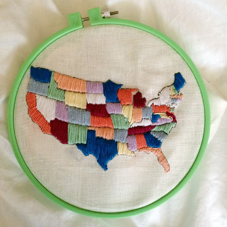 embroidery map of the usa 15 creative ways to keep track of your travels