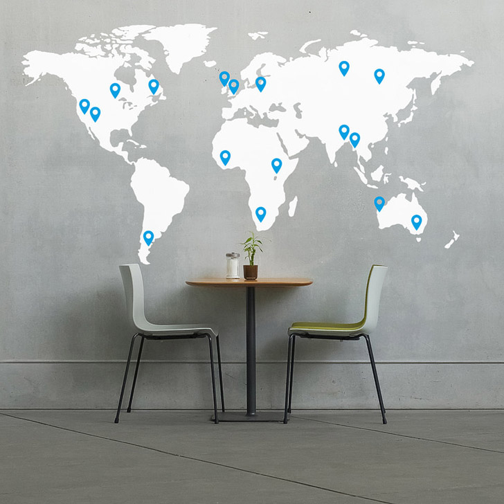 World Map Wall Decal (15 Wonderful Ways to Track Your Travels).