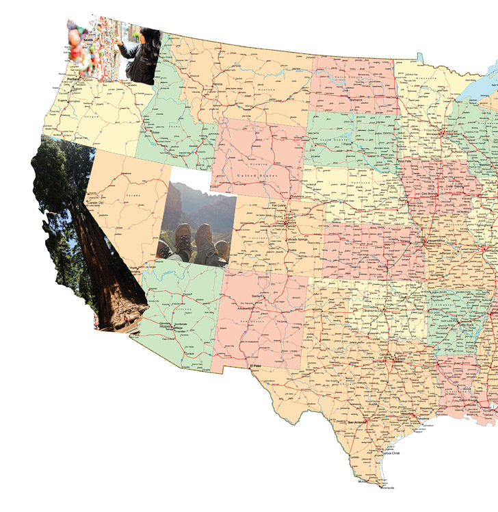 po collage usa map diy 15 wonderful ways to keep track of your travels