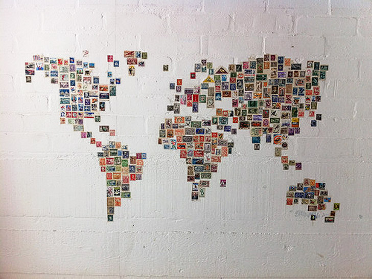 Photo Collage World Map (15 Wonderful Ways to Keep Track of Your Travels).