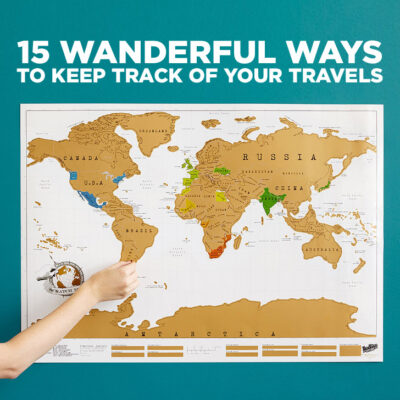 15 Wanderful Ways to Track Your Travels // localadventurer.com