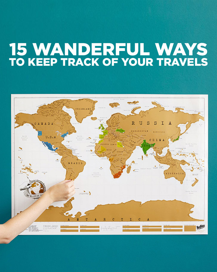 15 Wanderful Ways to Track Your Travels.