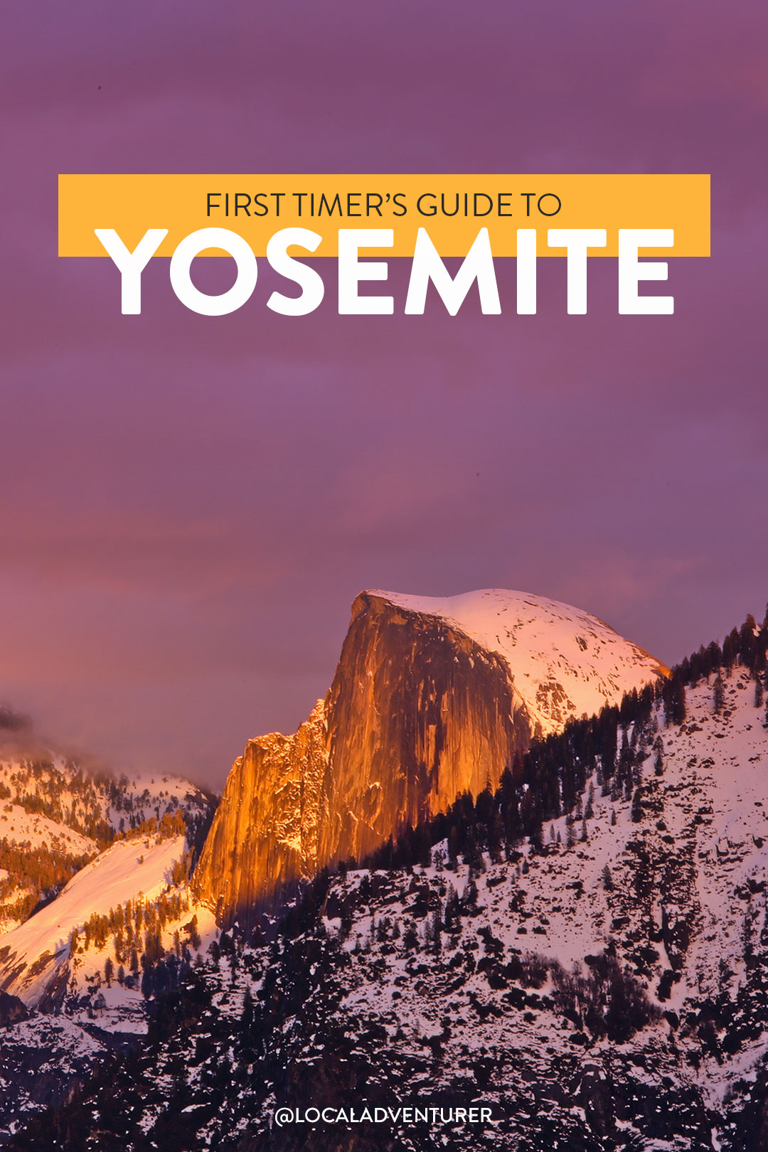 What to See in Yosemite National Park - Yosemite Must-See One Day + Yosemite Map // localadventurer.com