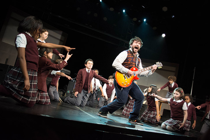School of Rock the Musical on Broadway: Alex Brightman and the Kids on Broadway NYC.
