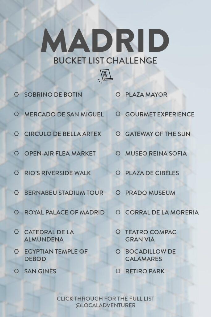Madrid Must See Bucket List
