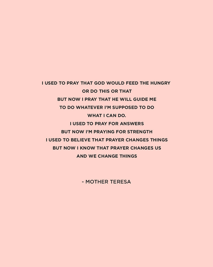 Inspiring Mother Teresa Quote.