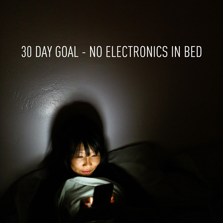 No Electronics Before Bed for One Month? | Clear the List Link Up