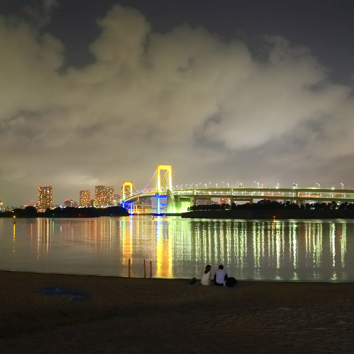 Walk along Odaiba Beach at Night (15 Incredible Things to Do in Tokyo Japan).