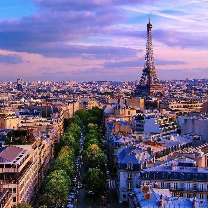 Paris France at sunset. #prayforparis #prayforbeirut