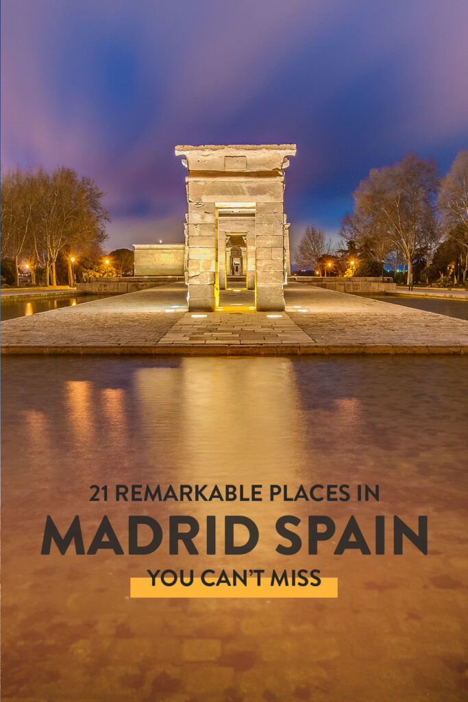 21 Best Places to Visit in Madrid Spain
