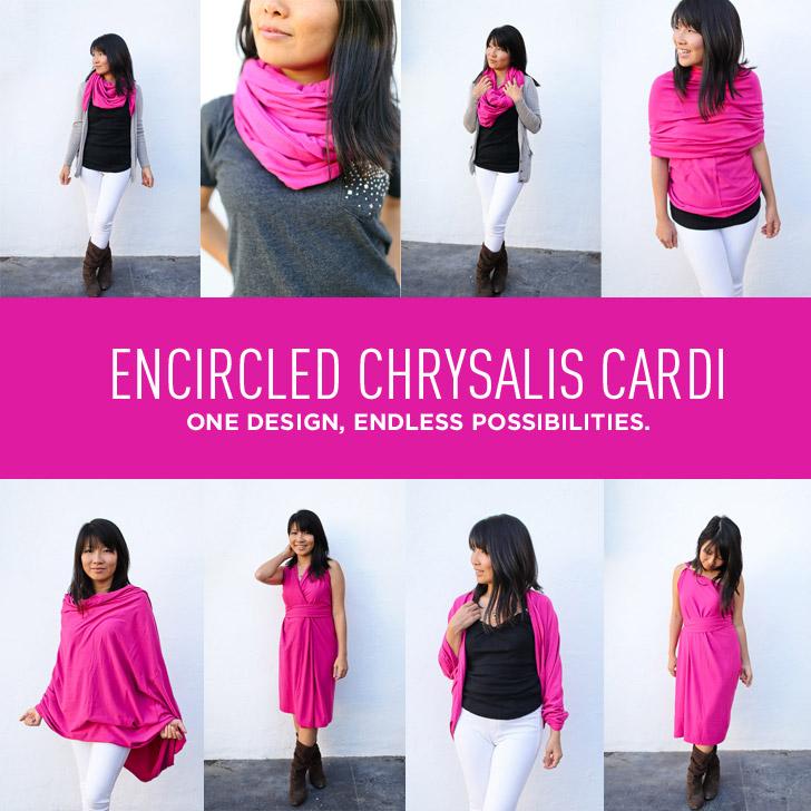 8+ Ways to Wear the Encircled Chrysalis Cardi ( Travel Cardigan + Dress + Scarf )