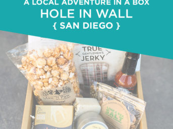 A Local Adventure in a box - Hole in Wall Box Subscription - Travel Subscription Box.