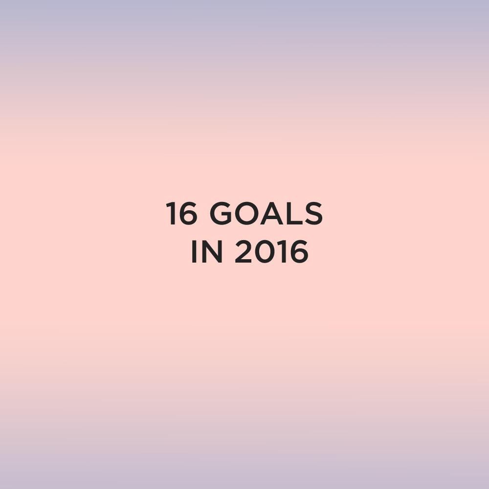 16 in 2016 Goals