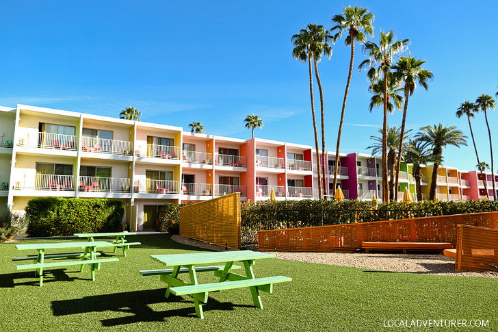 Most Colorful Hotel   The Saguaro Hotel Palm Springs CA USA.