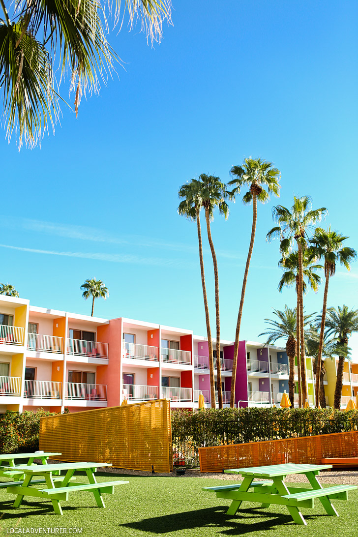 Most Colorful Hotel - The Saguaro Palm Springs CA USA.