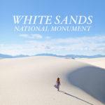 Sand Sledding at White Sands National Monument