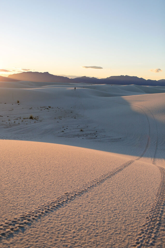 White Sands Sunset New Mexico