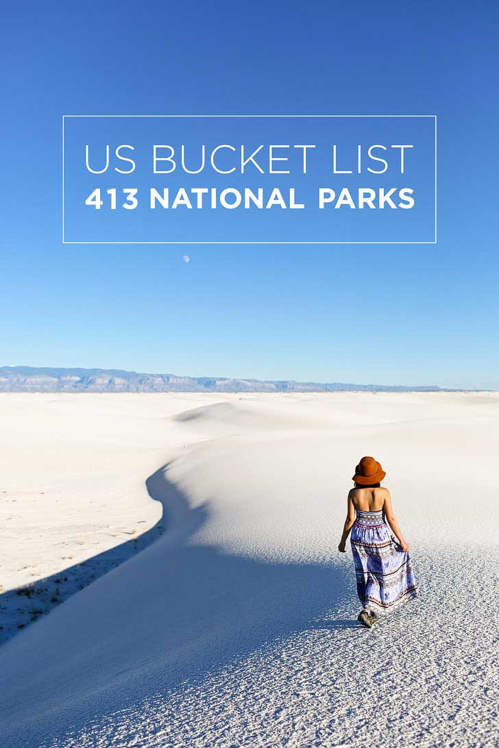 Ultimate Bucket List of 413 US National Parks Systems // localadventurer.com