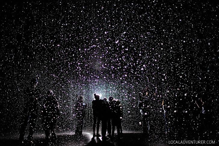 The Rain Room LACMA Museum - Los Angeles California.