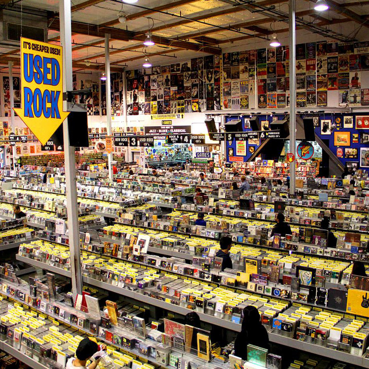 Amoeba Music is an iconic and massive music store on Sunset. They sometimes host free shows // localadventurer.com