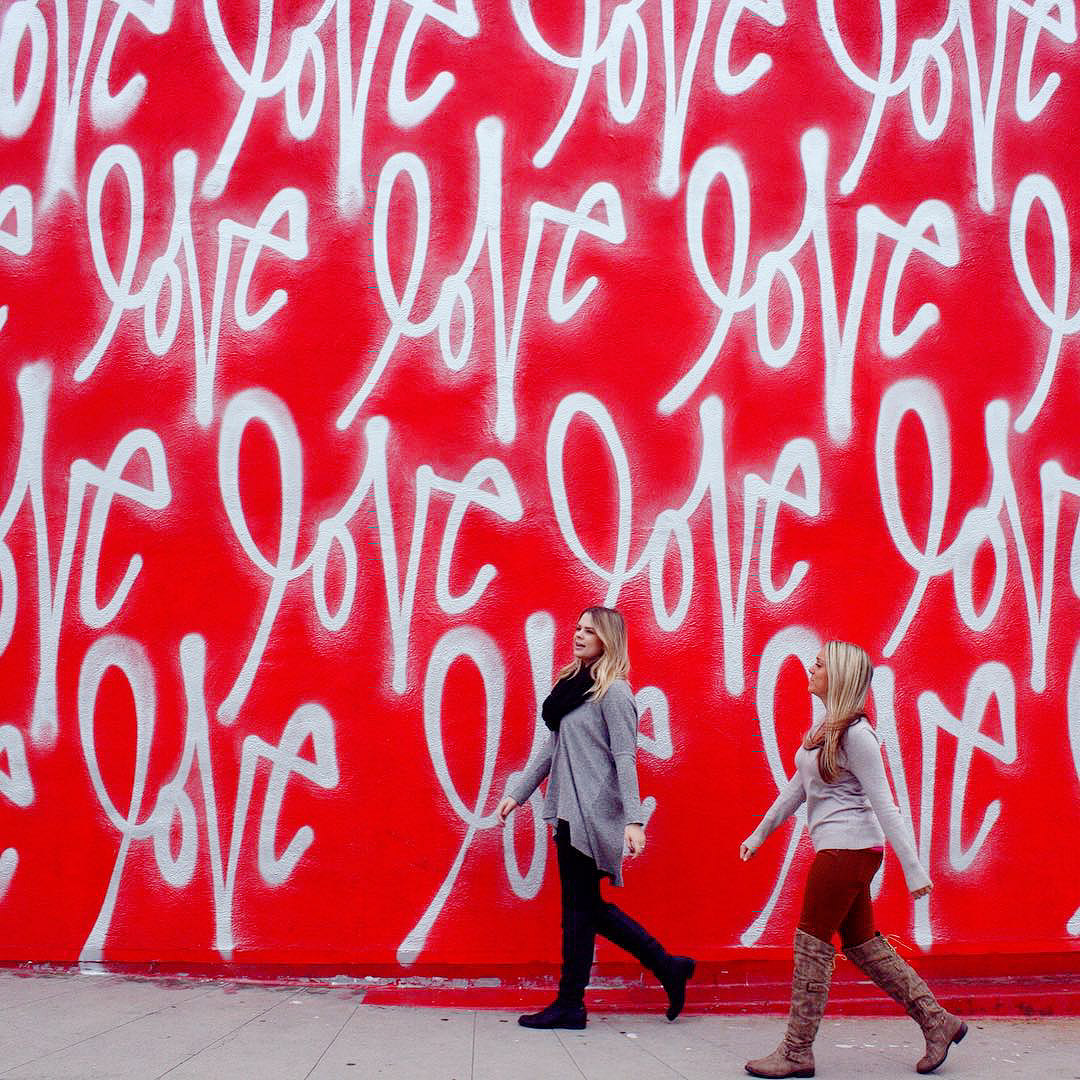 Curtis Kulig's Love Wall at Smashbox Studios + 25 Best Photo Spots in LA