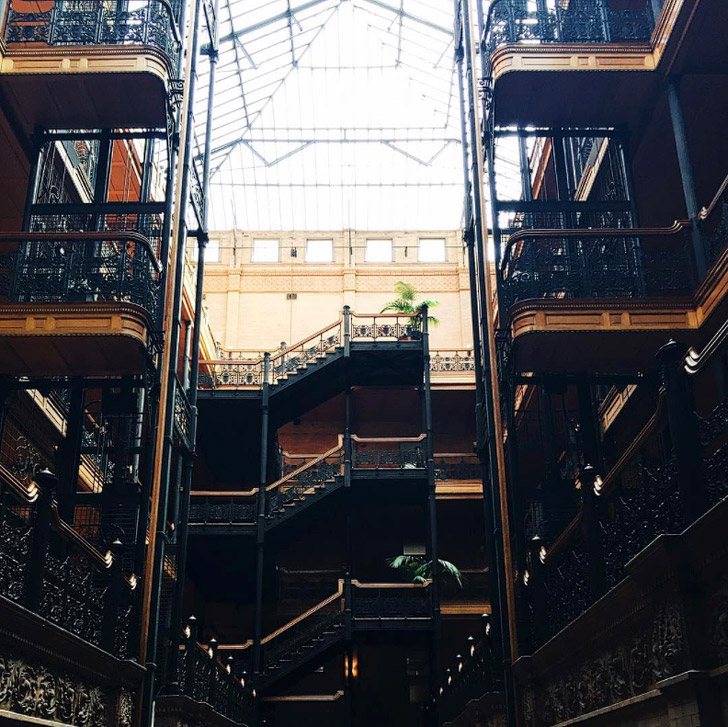 The Bradbury Building + 25 Amazing Instagram Spots in LA (photo: @gdapla_) // localadventurer.com