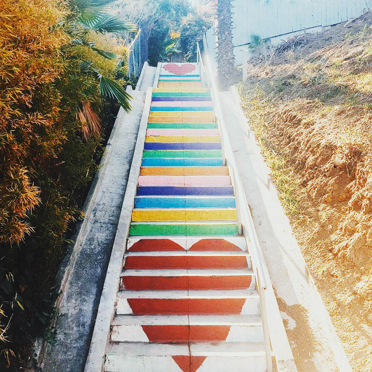 Micheltorena Steps in Silver Lake + 25 Most Popular Instagram Spots in Los Angeles (photo: @kassiaphoy) // Local Adventurer #la #losangeles #discoverla #california #instagram
