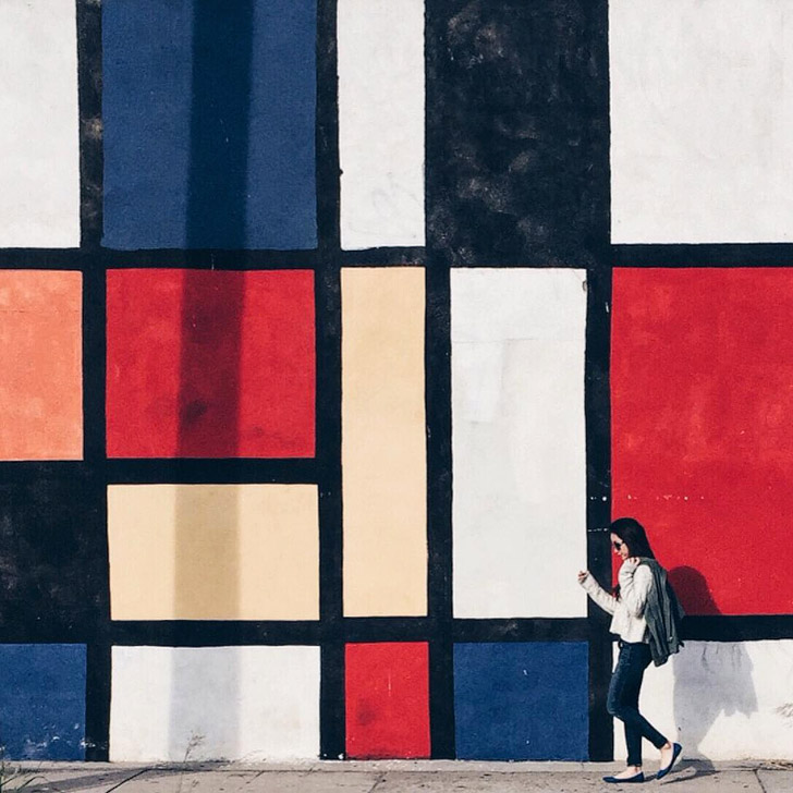Mondrian Wall + 25 Best Instagram Spots in LA (photo: @laura_yuzi) // localadventurer.com