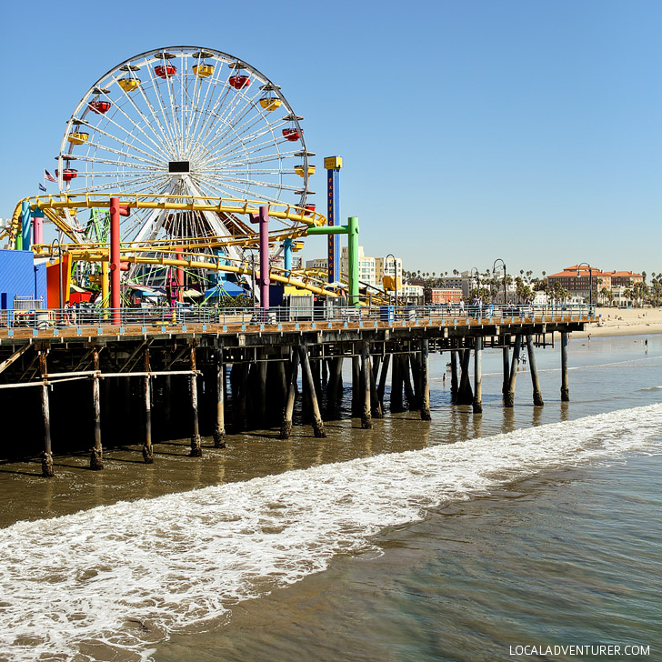 Santa Monica Pier is a popular LA landmark for tourists and locals // localadventurer.com