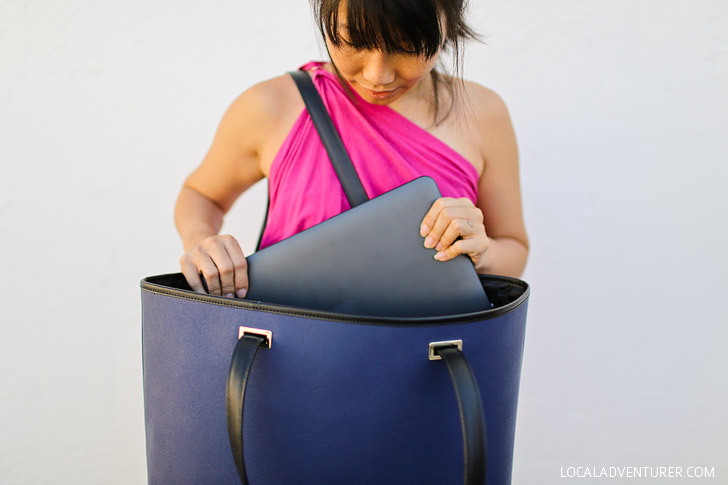 "Lo and Sons Seville Bag fits a laptop up to 15"" // localadventurer.com"