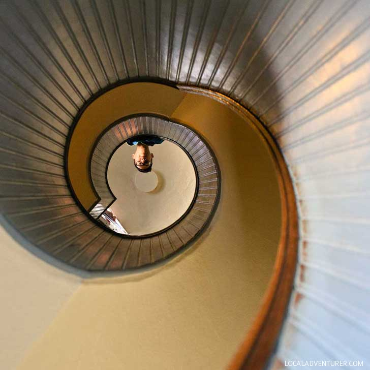 Iconic Photo of the Spiral Staircase Point Loma Lighthouse // localadventurer.com