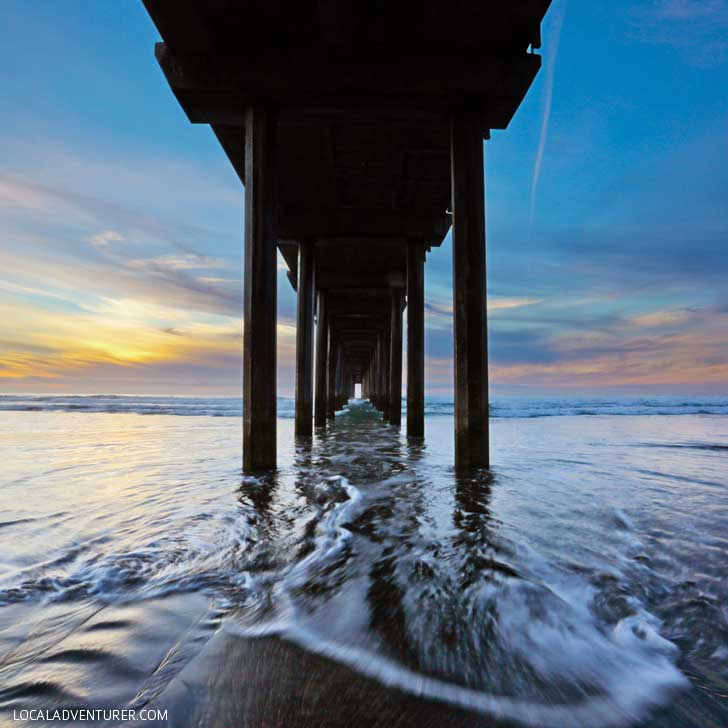 Scripps Pier La Jolla Beach San Diego California (The Best Photography Spots in San Diego) // localadventurer.com