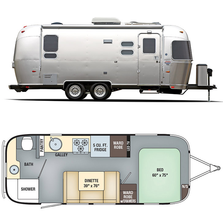 Layout of 2016 Airstream International Signature 23FB // localadventurer.com